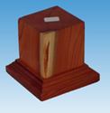 Picture of Wooden Base: 50mm Square Pedestal (Light)