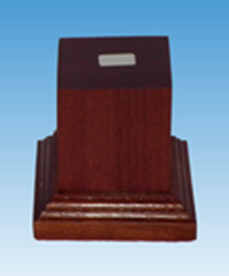 Picture of Wooden Base: 45mm Square Pedestal (Dark)